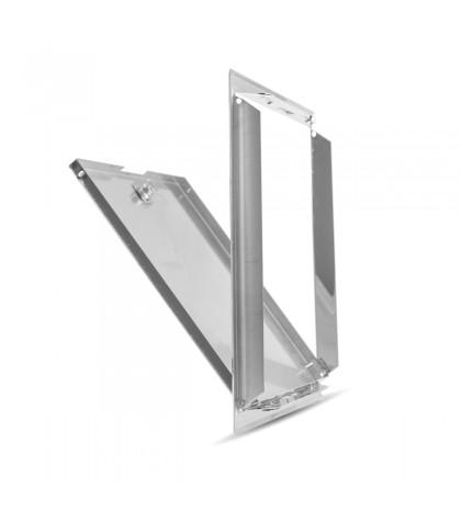 Trampilla de inspección con llave Softline acero inoxidable 15x15