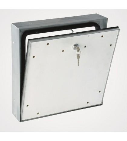 Sistema MPWD - Trampilla de inspección para exteriores a prueba de agua 400 x 400 mm / para fachada / con funda