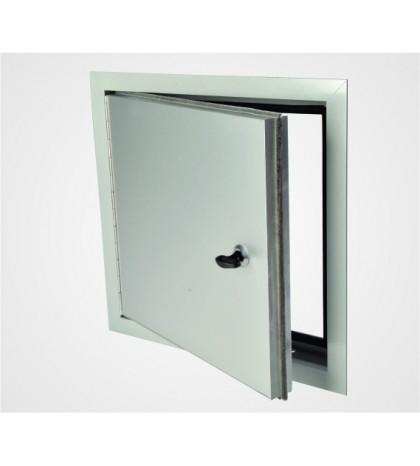 Sistema EXT - Trampilla de aluminio con un espesor de 1 mm, con aislamiento interno 300 x 300 mm / para exteriores