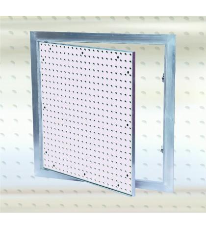 Sistema F2 - Trampilla con placa perforada Alu 200 x 200 mm / 12,5 mm GKBi