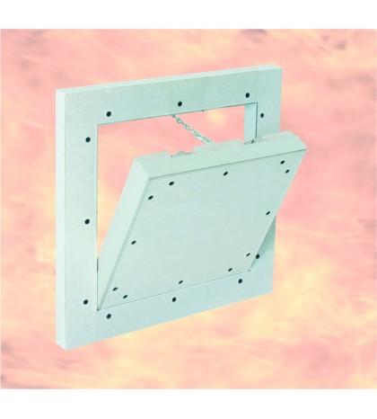 Sistema F5 EI30 - Trampilla de aluminio 300 X 300 resistente al fuego EI30  Para trasdosado / tabique autoportante
