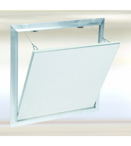 System F2 Trampilla Alu 1000x500 mm. Placa hidro 12,5 mm Placa atornillada. Cierre lado ancho.