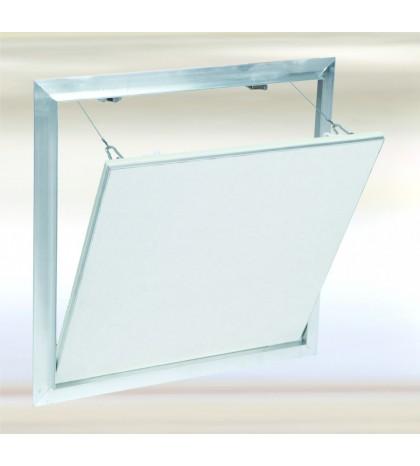System F2 Trampilla Alu 1000x600 mm. Placa hidro 12,5 mm Placa atornillada. Cierre lado ancho.