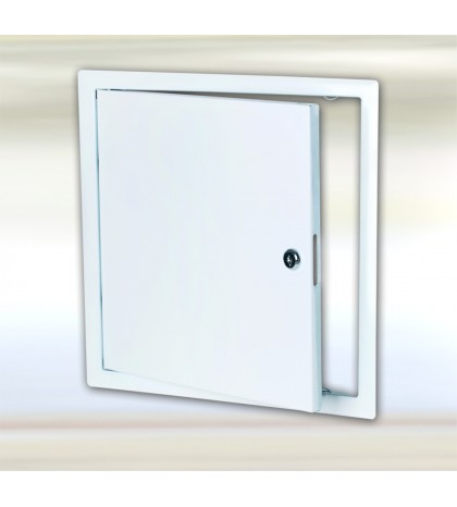 Sistema B3 - trampilla de inspección de chapa de acero blanca / 600 x 600 mm / con cerradura de cilindro redondo