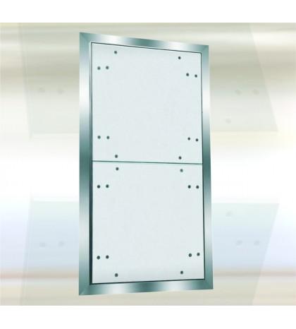 System F2 Trampilla Alu 1450x 1400 mm. Doble Puerta. Placa hidro 12,5 mm. Placa atornillada