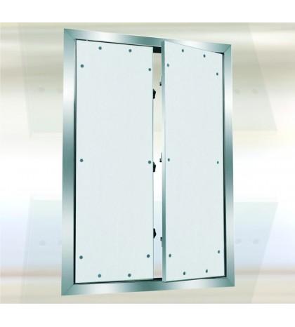 System F2 Trampilla Alu 1200 x 900 mm. Doble Puerta. Placa hidro 15 mm. Placa atornillada